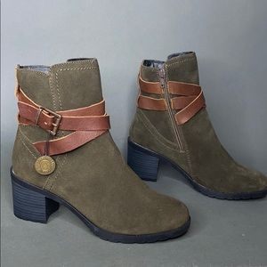 Cougar Arvida Olive Leather Suede Waterpoof Boots
